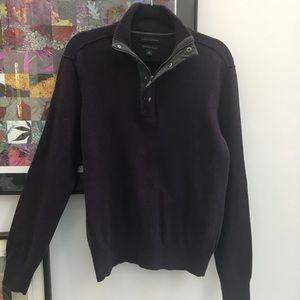 Banana Republic Deep Plum Marino wool sweater